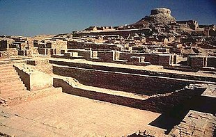 Excavated ruins of Mohenjo-daro, Pakistan.