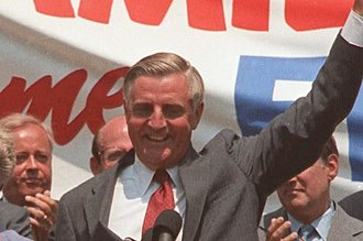 United States presidential election, 1984 - Mondale campaigning in Pennsylvania