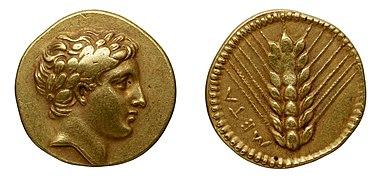 Monnaie en or, Lucanie, Métaponte.jpg