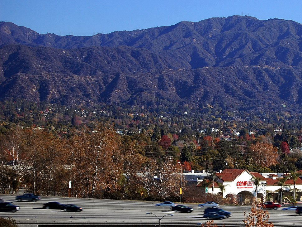 Monrovia CA San Gabriel Mountains i210