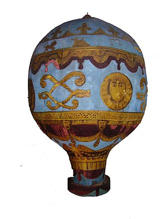 Montgolfier brothers - A model of the Montgolfier brothers' balloon at the London Science Museum
