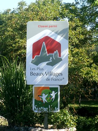 Les Plus Beaux Villages de France - Road sign in Montrésor