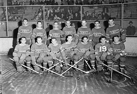 Les Canadiens en octobre 1942. - Ligue nationale de hockey