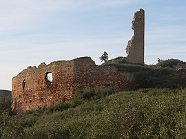 Ruins of the chateau of Saint Pierre des Clars