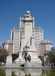 Monument to Miguel de Cervantes, Madrid.