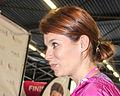 Mooie presentratice van Vlaanderen die Evy Gruyaert Ladiesrun 2015 Rotterdam.jpg