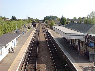 Moreton-in-Marsh - Moreton-in-Marsh railway station on the Cotswold Line.