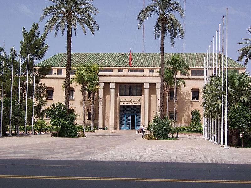 File:MoroccoMarrakech cityHall.jpg