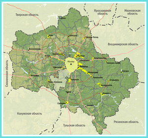 Какой регион у москвы на карте