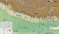 Mount Everest location in Himalaya map-Ar.png