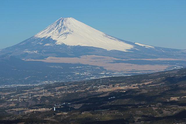 Sopka Fuji-San (3776 m) v Japonsku