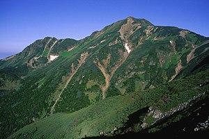 Mount Shiomi - Image: Mount Koumori from Mount Shiomi 1997 07 14