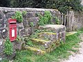 Mounting block and postbox at East Compton - geograph.org.uk - 369972.jpg