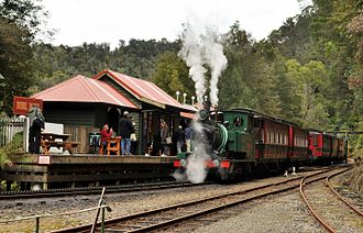 West Coast Wilderness Railway - ABT loco No 3 at Dubbil Barril