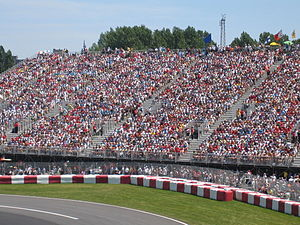 Canadian Grand Prix - Fans fill up a grandstand.