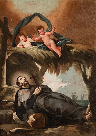Shangchuan Island - Painting of the death of St. Francis Xavier by Francisco Goya.