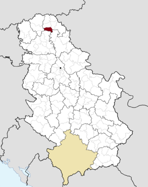 Ada, Serbia - Image: Municipalities of Serbia Ada