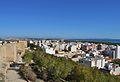 Muralla del castell i vista de Guardamar del Segura.JPG
