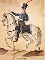 Museo del Bicentenario - Soldados de Regimientos Patriotas, Primer escuadrón de húsares.jpg