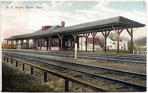 Mystic station (Connecticut) - Mystic station on a 1910 postcard