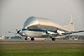 NASA's Super Guppy takes off from Ellington Field (JSC2012-E-097139).jpg