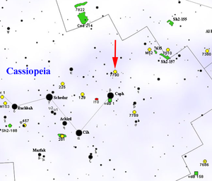 NGC 7790 - Map Showing Location of NGC 7790 (Roberto Mura)