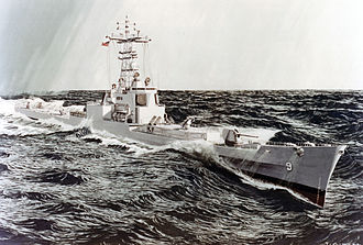 USS Long Beach (CGN-9) - Artist's impression of Long Beach following conversion to Aegis cruiser.