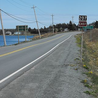 Nova Scotia Route 207 highway in Nova Scotia