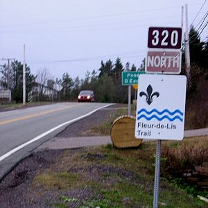 Isle Madame (Nova Scotia) - Route sign in Arichat