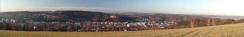 Panorama Náchodu