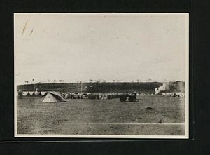 Nairobi - How Nairobi looked in 1899, just a bunch of Tents and then a Railway Depot