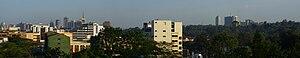 Nairobi panorama from westlands