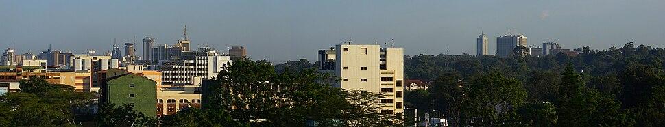 Nairobi panorama, viewed from Westlands