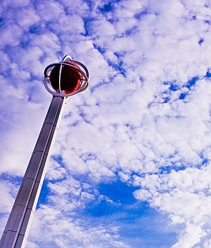 Naismith Memorial Basketball Hall of Fame - Image: Naismith basketball pole