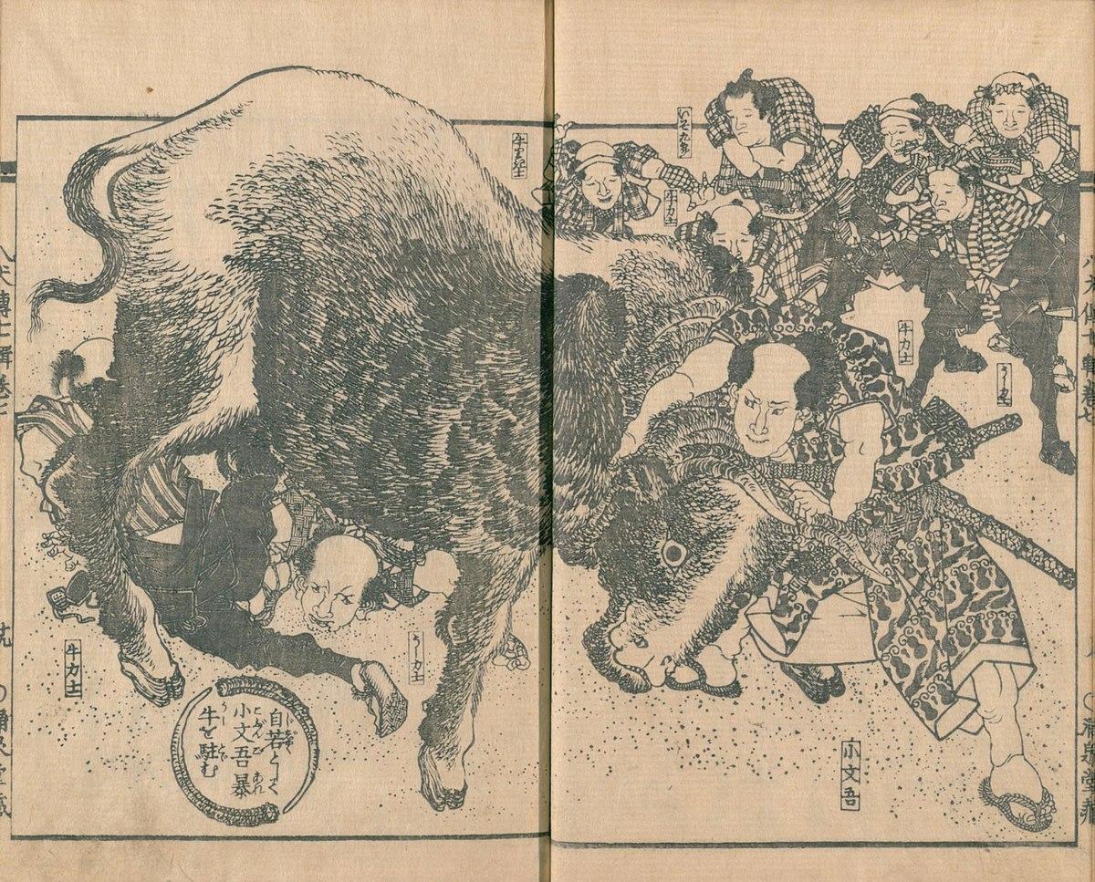 Nansō Satomi Hakkenden - Rampaging cattle.jpg