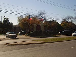 Gulfton, Houston - Many apartment complexes, such as Napoleon Square, were given names meant to evoke luxury