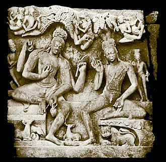 Nara-Narayana - Narayana on the left and Nara on the right, Deogarh, Uttar Pradesh, ca. 5th century AD