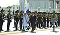 Narendra Modi inspecting the Guard of Honour, during the Ceremonial Welcome, at Independence Square, in Oguzkhan Palace, Ashgabat, Turkmenistan. The President of Turkmenistan, Mr. Gurbanguly Berdimuhamedov is also seen.jpg
