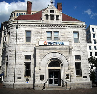 PNC Financial Services - PNC Bank branch, located in the historic National Bank of Washington building, in Washington, D.C.