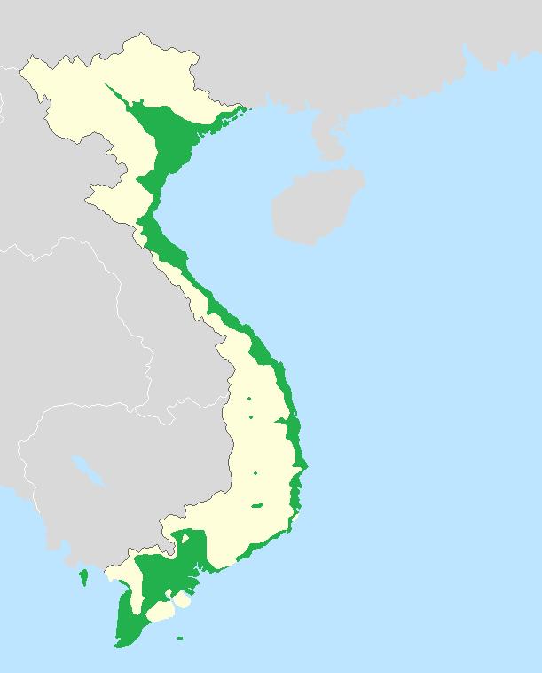 Natively Vietnamese-speaking areas