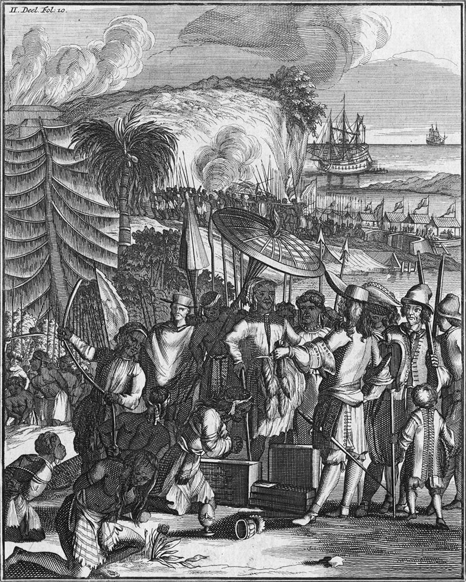 Natives of Arrakan sell slaves to the Dutch East India Company (1663)