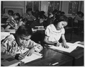 Navajo students learning penmanship in day school - NARA - 295150.tif
