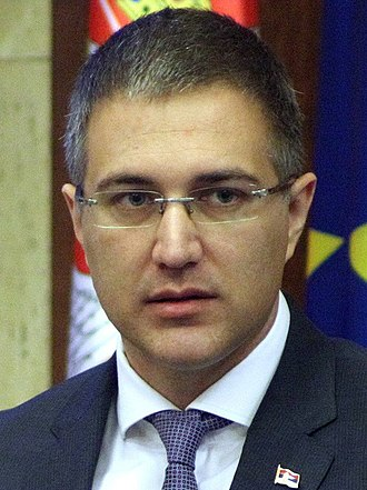 Ministry of Internal Affairs (Serbia) - Nebojša Stefanović, the current Minister of Interior of Serbia.