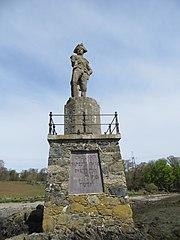 Statue of Nelson on shore of Menai Strait