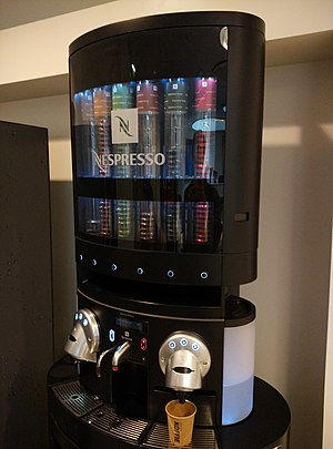Nespresso - Nespresso machine containing professional-grade Nespresso pods, incompatible with the regular capsules