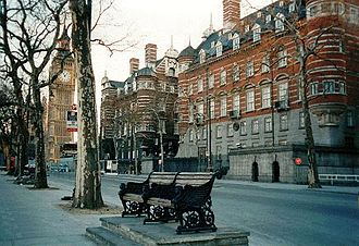Richard Norman Shaw - Image: New Scotland Yard Victorian building Big Ben 1890