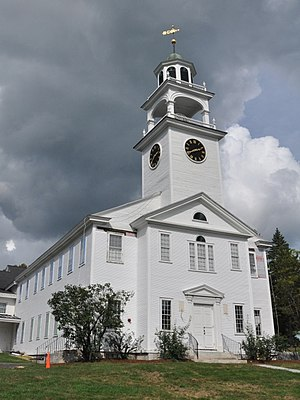 National Register of Historic Places listings in Merrimack County, New Hampshire - Image: New London NH Baptist New Meeting House