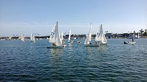 Dinghy racing - Newport Harbor High School sailing team