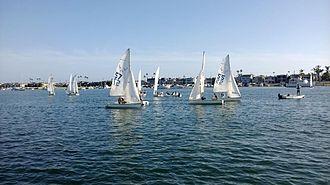 Dinghy racing - Newport Harbor High School sailing team
