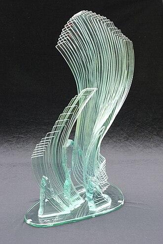 Studio glass - Wind Song Glass, Peter Newsome